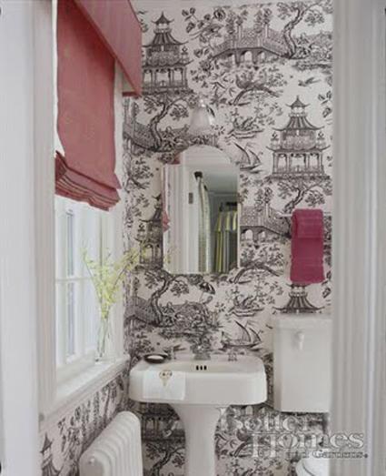 Papel pintado en cocinas y ba os decoratrucosdecoratrucos - Papel pintado en banos ...