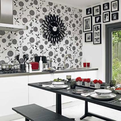 Papel pintado en cocinas y ba os decoratrucosdecoratrucos - Papel pintado en la cocina ...