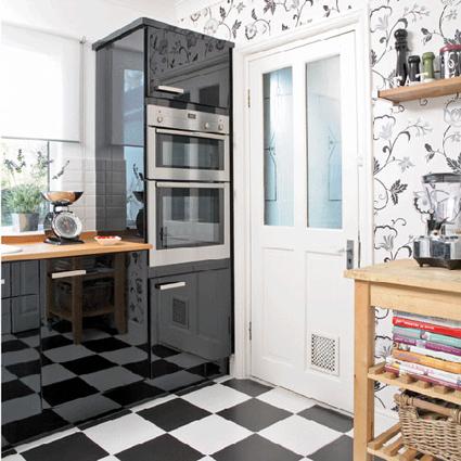Papel pintado en cocinas y ba os decoratrucosdecoratrucos - Papel pintado en cocina ...