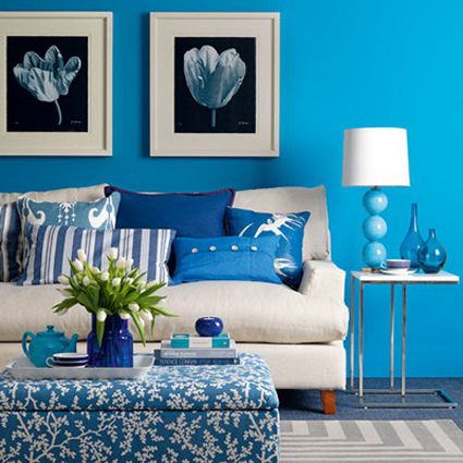 Ideas para decorar el living en color azul for Blue living room decor ideas