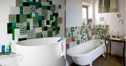 Originales azulejos para el ba o decoratrucosdecoratrucos for Azulejos banos rusticos fotos