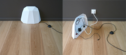 soluciones para ocultar cables y enchufes decoratrucosdecoratrucos. Black Bedroom Furniture Sets. Home Design Ideas