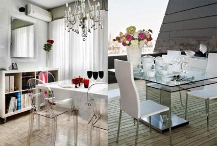 aligera el espacio con muebles transparentes