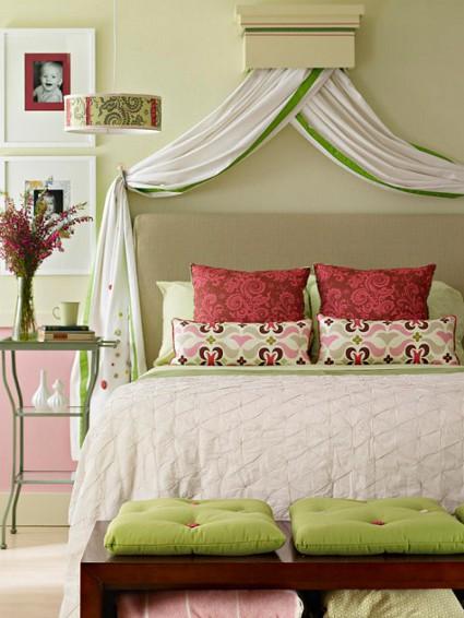 C mo hacer un dosel para tu cama decoratrucosdecoratrucos for Como hacer una cabecera de cama