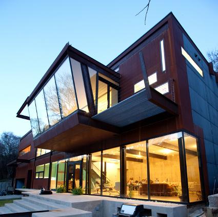 Arquitectura moderna casa en concreto y cristal - Arquitectura moderna casas ...