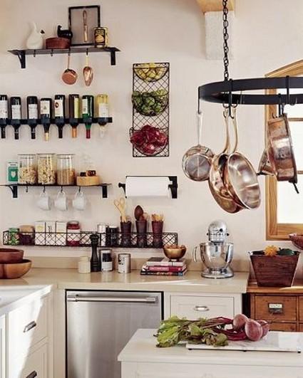 Trucos para organizar cocinas peque as - Estantes para cocina pequena ...
