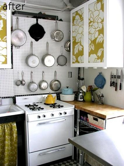 Trucos para organizar cocinas pequeñas  ~ 003001_Kitchen Wall Decorating Ideas Do It Yourself
