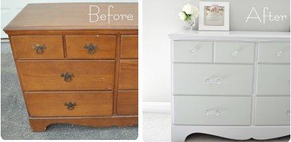 Renueva tus muebles con pintura decoratrucosdecoratrucos - Como pintar un mueble viejo ...