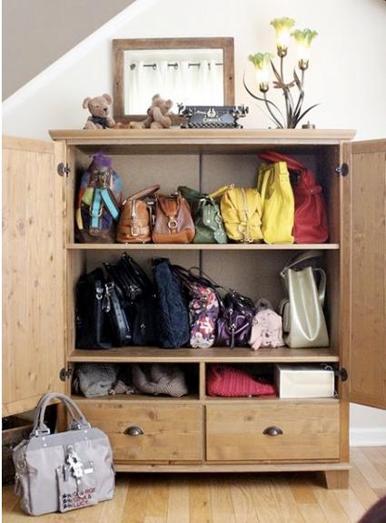 Trucos para ordenar tus bolsos decoratrucosdecoratrucos - Organizar bolsos ikea ...