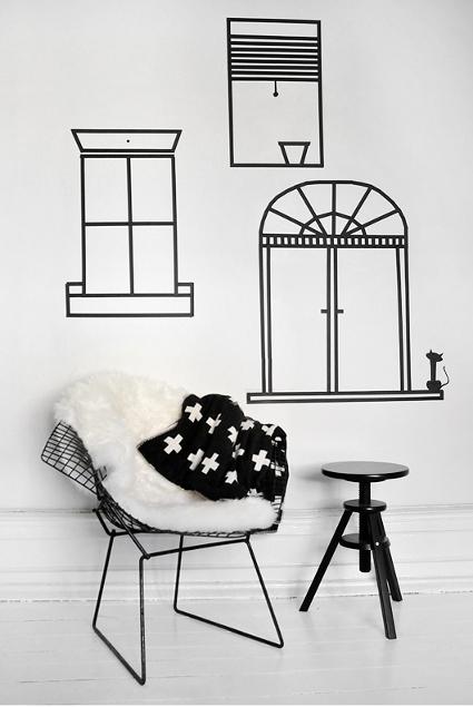Decora tus paredes con cinta adhesiva decoratrucosdecoratrucos - Decora tus paredes ...