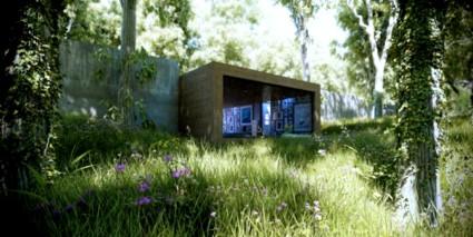 Una casa moderna en medio del bosque for Casa minimalista bosque