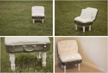 Haz tus propias sillas i maleta vintage - Manualidades con muebles viejos ...
