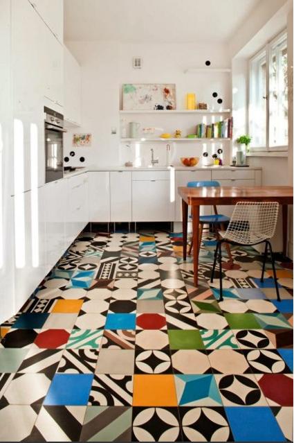 Mezclando azulejos en suelos y paredes - Azulejos de suelo ...