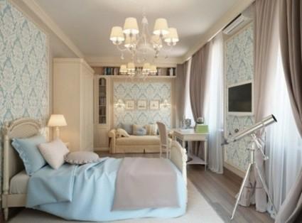 Habitaciones decoradas en azul y gris - Beautiful girls bedroom furniture ...