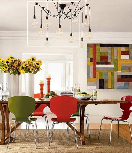 A ade encanto a tu comedor con una l mpara colgante decoratrucosdecoratrucos - Lamparas para comedores modernos ...