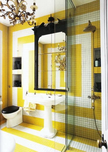 Baños Amarillos Modernos:bano-amarillo-3