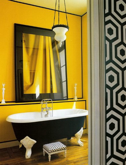 Baños Decorados Blanco:Baños decorados en amarillo « DecoraTrucos