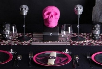 Decoraci n de mesas elegantes para halloween for Decoracion mesa halloween