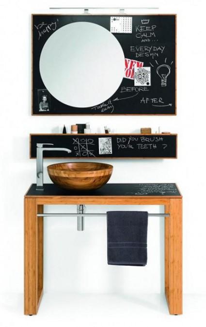 Mueble Baño Original:Originales muebles de baño con pizarras « DecoraTrucos