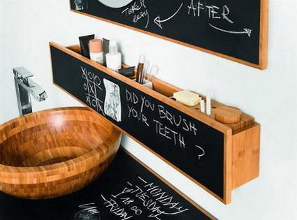 Originales muebles de ba o con pizarras decoratrucosdecoratrucos - Muebles bano originales ...