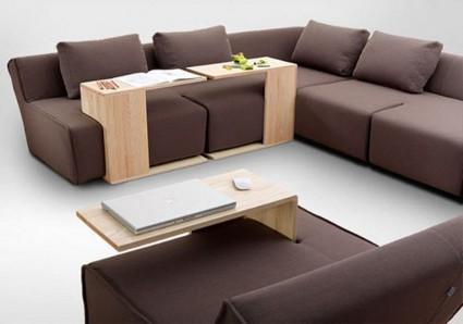 los sofs modulares son ideales para personas que disfrutan de cambiar el aspecto de su sala de estar pero que no puede permitirse el lujo de salir a