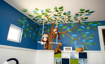 decoracion techo infantil pintura