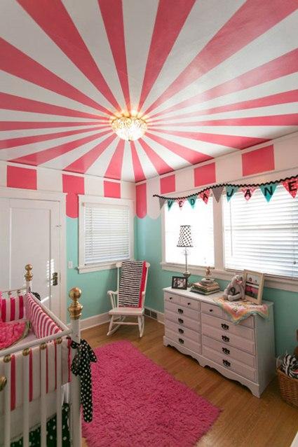 techos infantiles con papel pintado