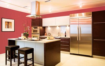 Colores para cocinas con gabinetes oscuros for Colores para gabinetes de cocina