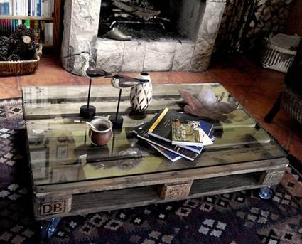 Originales mesas auxiliares decoratrucosdecoratrucos - Mesa centro palet ...