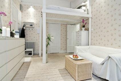 Camas elevadas para apartamentos peque os decoraci n y for Como hacer una cama alta de madera