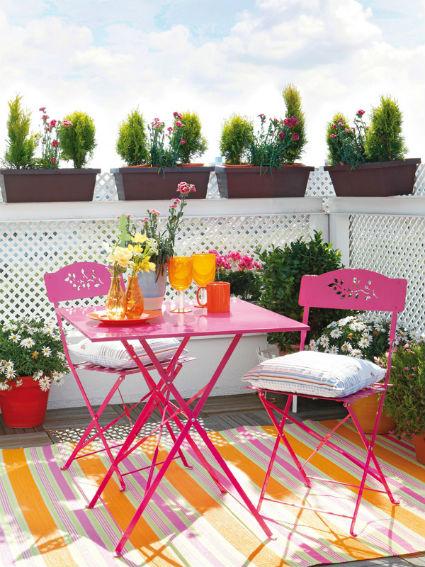 Ideas para decorar terrazas decoratrucosdecoratrucos for Muebles terraza pequena