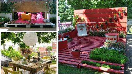 Muebles de jard n hechos con palets decoratrucosdecoratrucos for Muebles de jardin con palets reciclados