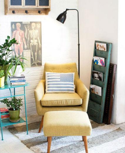 Crea un espacio de lectura decoratrucosdecoratrucos for Rincon lectura