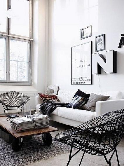 Blanco y negro para decorar el living decoratrucosdecoratrucos - Deco interieur wit ...