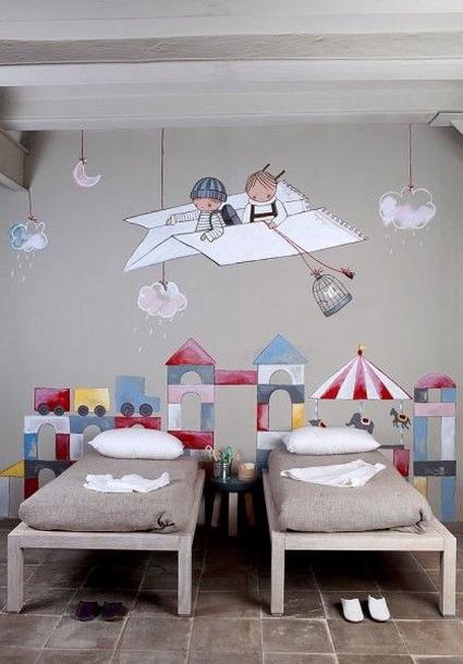 Creativas habitaciones para ni os decoratrucosdecoratrucos - Paredes pintadas para ninos ...