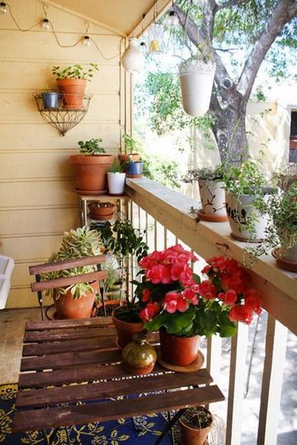 decorar pequeño balcon