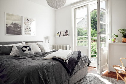 dormitorio gris