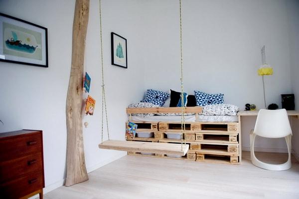 Camas infantiles hechas con palets de madera