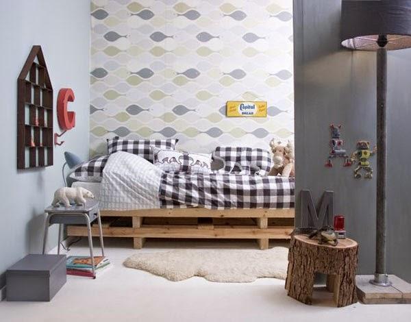 Muebles infantiles con palets