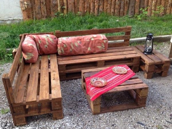Muebles de jardín hechos con palets de madera