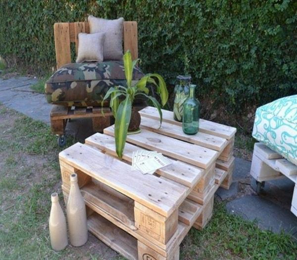 Muebles rústicos hechos con palets