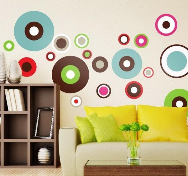 Pegatinas coloridas para el salón