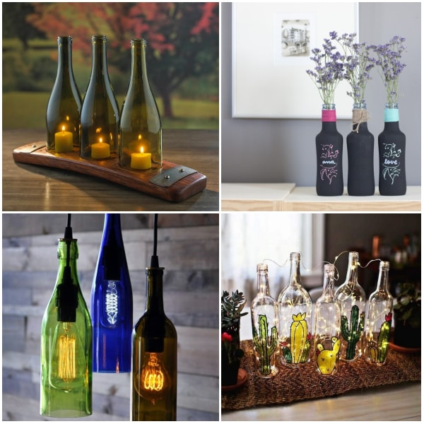 Ideas con botellas de vidrio recicladas