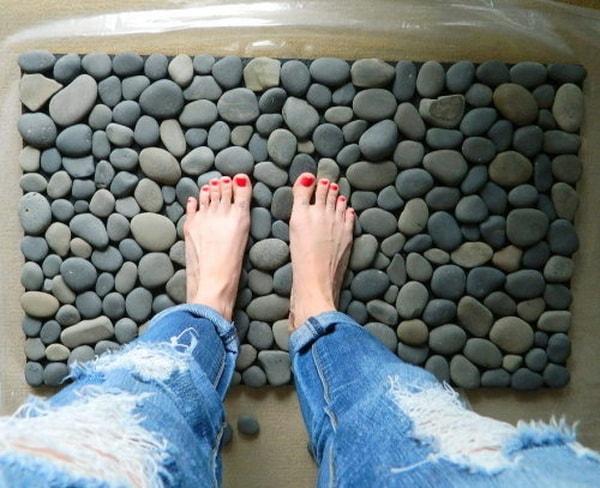 Alfombras hechas con piedras