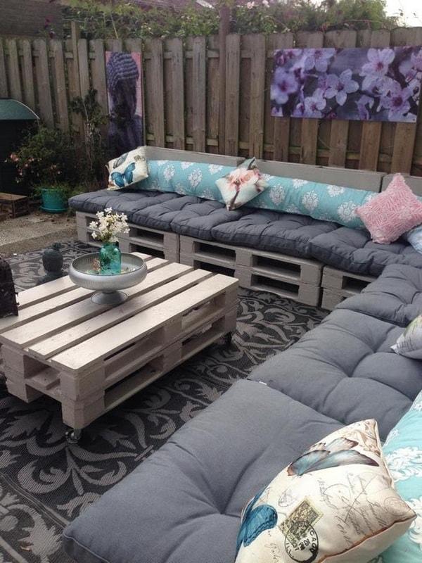 Muebles hechos con tarimas o palets de madera