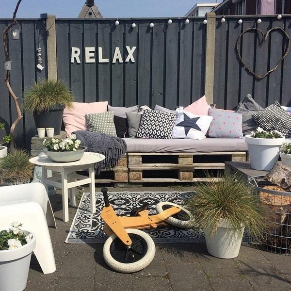 Muebles de exterior hechos con palets