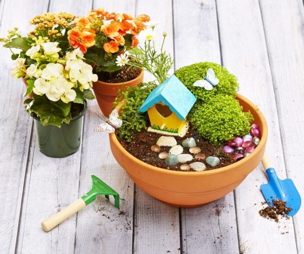 Jardines en miniatura en macetas y en otros for Macetas miniatura