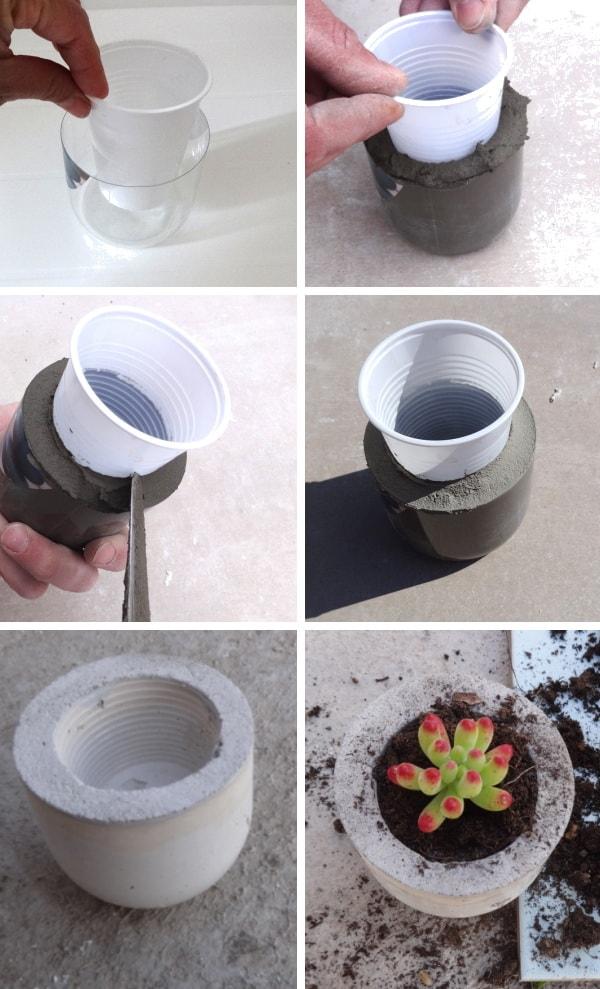 Cómo hacer maceteros con cemento