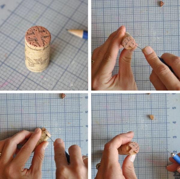 Cómo hacer sellos con corchos de botellas