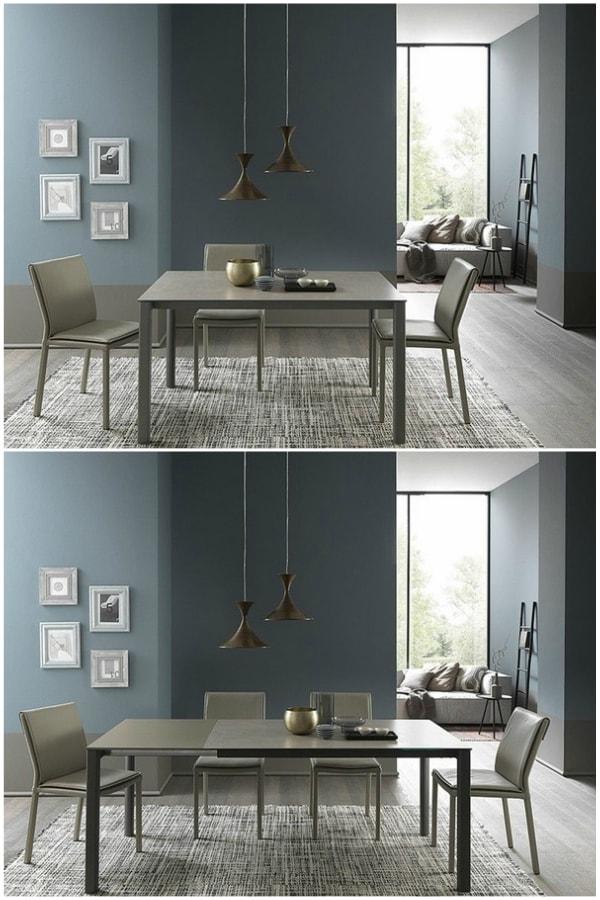 Diferentes configuraciones para una mesa extensible